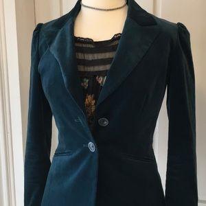 Halogen cotton velvet jacket